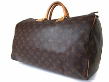 Authentic LOUIS VUITTON Speedy 40 Monogram Canvas Hand Bag LH12928L