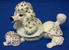 JULIANA TREASURED TRINKETS POODLE DOG METAL TRINKET BOX 15553