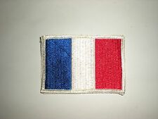 FULLY EMBROIDERED FRANCE NATIONAL FLAG SEW-ON PATCH