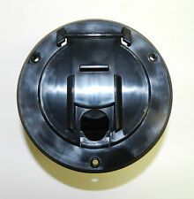 RV Camper Trailer Power Cord / Cable Hatch / Cover - BLACK - Flip up - NEW