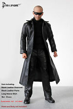 FT014 1/6 Clothing- Black Leather Long Coat,Shirt,Pants & Shoes set for HOT TOYS