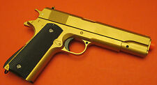 Good Quality 1911 Metal Airsoft Spring Gun Shoot Hard up to 350 FPS Gold Color