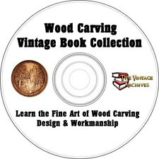 Wood Carving Design & Workmaship Vintage How To Book Collection on CD