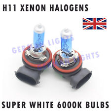 2x H11 SUPER XENON WHITE HEADLIGHT BULBS 6000K AUDI BMW MERCEDES FORD GOLF FOG