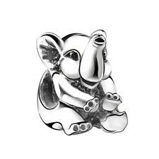 Elephant silver charm pendant bead FOR S925 European charms Bracelet bangle K117