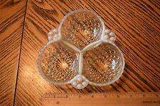 Fenton Glass Opalescent Hobnail  Divided Three Part Bowl Dish