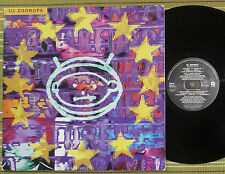 U2, ZOOROPA, LP 1993 UK 1ST PRESS A-1/B-2 VG+/VG+, INNER/SL & LYRIC SHEET