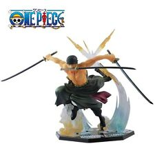 "Cool JP Anime One Piece RORONOA. ZORO Battle Ver.17cm/6.7"" PVC Figure No Box"