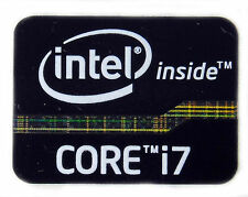 INTEL CORE i7 BLACK STICKER LOGO AUFKLEBER 21x16mm (87)