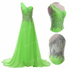 Sexy Long Bead Evening Formal Bridesmaid Wedding Ball Gown Prom Party Dresses