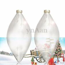 2pcs Glass Clear Xmas Tree Decor Balls Bauble Hanging Home Party Ornament Decor