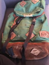 VTG early 70S REI BACKPACK canvas leather RUCKSACK hiking CAMPING trail BAG usa
