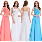 One Shoulder Long Bridesmaid Formal Gown Party Cocktail Evening Prom Maxi Dress