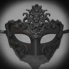 Men's Greek Venetian Masquerade Mask - Roman Warrior Venetian - Black