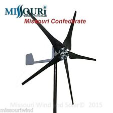 DC output USED Missouri Confederate 500 watt 5 blade 12 volt wind turbine LOT 21