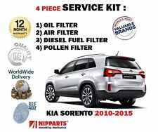 FOR KIA SORENTO 2.2 DT CRDi 2010-2015 SERVICE KIT OIL AIR FUEL POLLEN FILTER SET