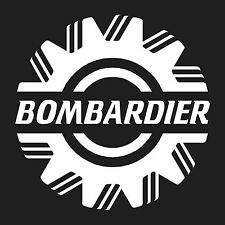 "Bombardier  vinyl wall sticker decal large 10.5"" x10.5"""
