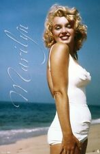 MARILYN MONROE POSTER ~ WHITE SWIMSUIT 22x34 Celebrity Icon Movie