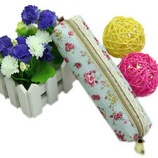 Fashion Unique  Floral Lace Pencil Pen Case Cosmetic Makeup Bag Zipper Pouch UK
