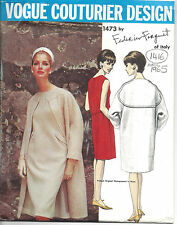 1965 Vintage VOGUE Sewing Pattern B32 DRESS & COAT (1416) By FEDERICO FORQUET