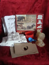Child Craft 5 yrs + Ikea AFRICAN Animals 3 Mould Mold Plaster Craft Kit NO PAINT