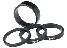 "Deda Alloy Headset Spacers black w/ white logo 1-1/8"" x 10mm  Alloy (4-PACK)"
