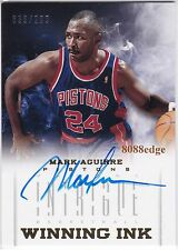 2012-13 PANINI INTRIGUE WINNING INK AUTO:MARK AGUIRRE #39/299 AUTOGRAPH PISTONS