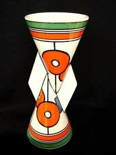 CLARICE CLIFF LIMITED EDITION CIRCLES AND SQUARES YO YO YOYO VASE VASES PERFECT