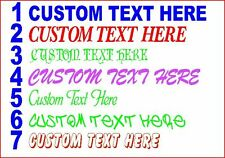 Personalised CUSTOM TEXT  Name Lettering Funny Car/Van/Window Shop Decal Sticker