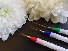 Fine Detail Creative Design 3 Liner Nail Art Brushes Paint Acrylic Tip Extension