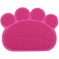 Hot Dog Cat Puppy Paw Shape Placemat Pet Dish Bowl Feeding Food Mat Wipe Clean