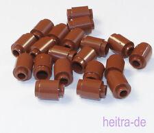 LEGO - 20 x Rundstein 1x1 braun / Reddish Brown Brick Round / 3062b NEUWARE