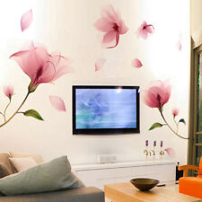 Removable Pink Flower Wall Sticker Vinyl Mural Decals Art Living Room Home Decor