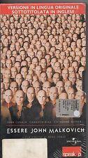 ESSERE JOHN MALKOVICH VHS in lingua originale con sottotitoli in INGLESE sealed