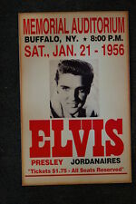 Elvis Tour Poster 1956 Memorial Auditorium Buffalo NY