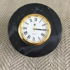 Vintage Desk Travel Clock Malaysian Airways Airline Gift Memorabilia Marble