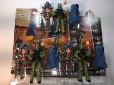 GI Joe Cobra Retaliation Figure Lot Joe Trooper Blue x3 Army Builder