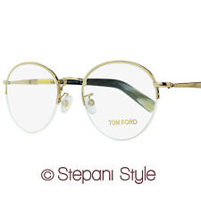 Tom Ford Round Eyeglasses TF5334 032 Size: 52mm Gold/Buffalo Horn FT5334
