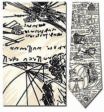 Leonardo DaVinci Sketches Drawings Inventions Silk Neck Tie - 6141