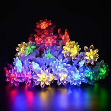 20-LED Battery Operated Lotus Flowers String Fairy Lights Xmas Wedding Decor