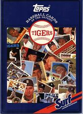 1987 Topps/Surf Book Baseball Cards Detroit Tigers