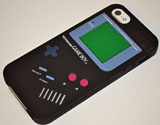 Black Game Boy Retro Style Soft Silicone Rubber Case Cover for iPhone 5/5s/SE