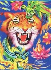 Tatto Tiger Plush Blanket Signature Collection queen size acrylic throw new