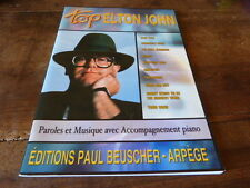 ELTON JOHN - Livre de partitions / Scores book !!! TOP !!!