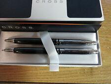 Cross Avitar Tuxedo Black Lacquer & Chrome Ballpoint Pen & 0.7MM Pencil SET $89.