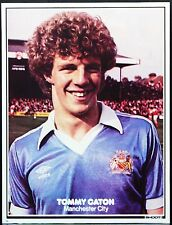FOOTBALL PLAYER PICTURE TOMMY CATON MANCHESTER CITY SHOOT