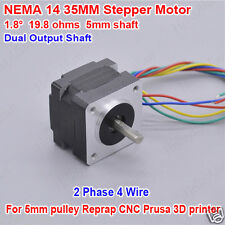 NEMA14 Stepper Motor Dual Shaft for 5mm pulley Reprap CNC Prusa Robot 3D printer