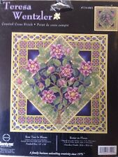 Teresa Wentzler Rose Tree in Bloom counted X stitch KIT, sealed #774-0001