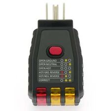 Electrical outlet receptacle tester ,Plug tester for 120 V, AC GFCI CircuitTeste