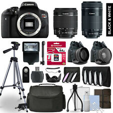 Canon Rebel T6i Camera 4 Lens Kit 18-55 + 55-250mm STM + 64 GB Accessory Bundle
